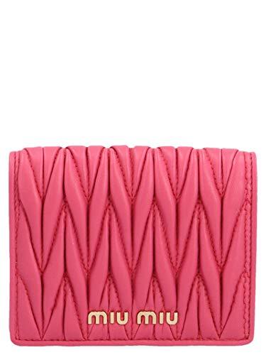 Miu Miu Damen 5Mv204n88f01bk Fuchsia Leder Brieftaschen