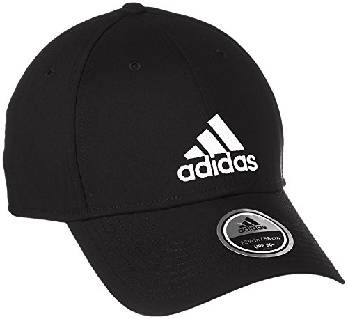 adidas Damen 6 Panel Lightweight Kappe, Black/Black/White, OSFW
