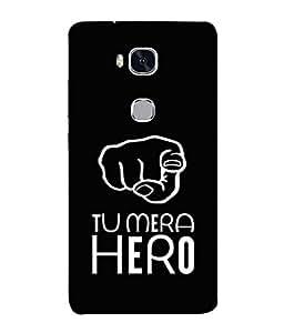 Fuson Designer Back Case Cover for Huawei Honor 5X :: Huawei Honor X5 :: Huawei Honor GR5 (Hand Gestures Mera Hero My Inspiration)