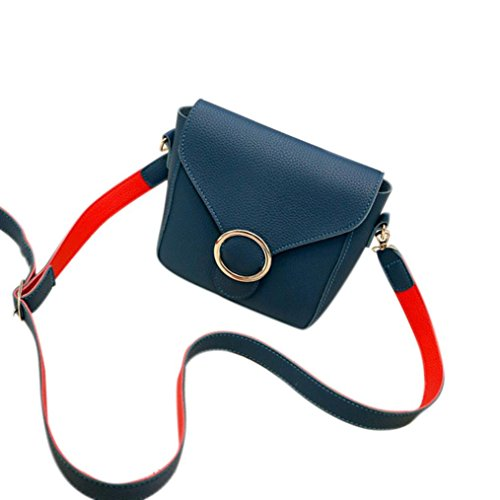 Moda Donna In Pelle Artificiale Borsetta Borsa Piccola Crossbody Borse Donna Messenger Borsa A Tracolla di Kangrunmy Blu