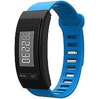 Preisvergleich für Handgelenkschrittzähler mit Kalorien Distanzzeiten, Schrittzähler, Stufenzähler Schrittzähler für Kinder in weiß blau schwarz rosa Schrittzähler für Option