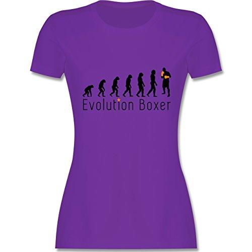 Evolution - Boxer Evolution - tailliertes Premium T-Shirt mit  Rundhalsausschnitt für Damen Lila