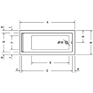 Duravit Bañera Duravit STARCK versión empotrada 1600x700mm blanco