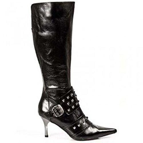 New Rock, Bottes Femme Noir (noir)