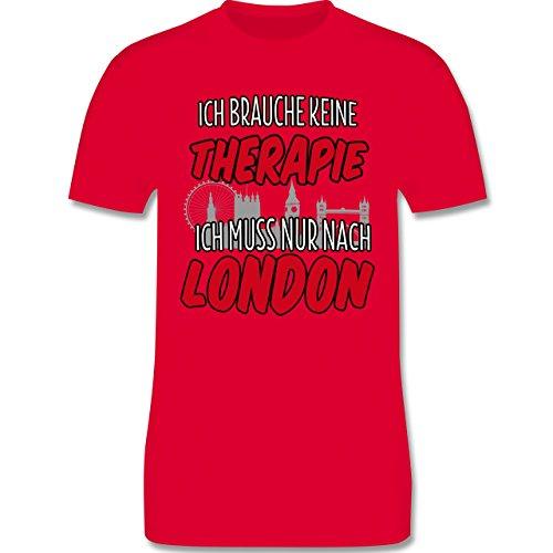 Städte - Ich brauche keine Therapie ich muss nur nach London - Herren Premium T-Shirt Rot