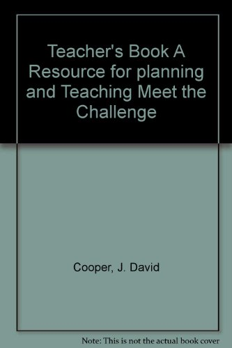 Teacher's Book A Resource for planning and Teaching Meet the Challenge