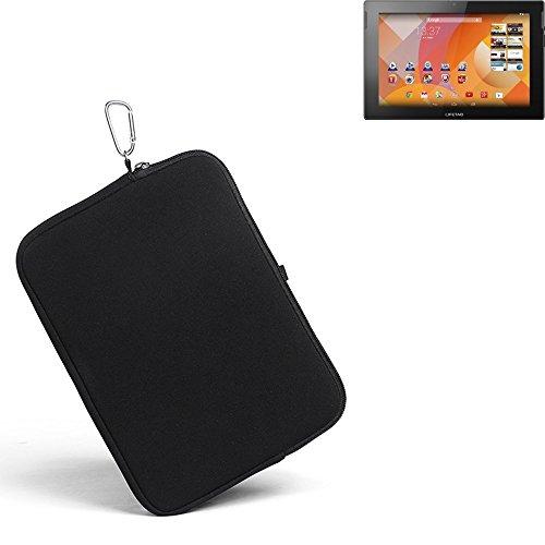 K-S-Trade® für Medion Lifetab S10333 Neopren Hülle Schutzhülle Neoprenhülle Tablethülle Tabletcase Tablet Schutz Gürtel Tasche Case Sleeve Business schwarz für Medion Lifetab S10333