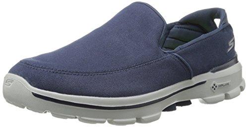 Skechers GO Walk 3 - Attain, Chaussures de Tennis Homme, Bleu - Azul (NVY), 42