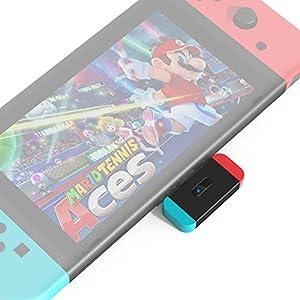 NetDot Nintendo Switch Bluetooth Adapter Audiosender mit USB-C Anschluss,Verbindung von 2 Kopfhörern mit Voice Chat,Spielen an öffentlichen Orten,Kompatiblen PS4,Airpod,Bose und Bluetooth Kopfhörern