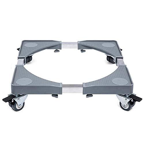 ZLL Waschmaschine Podeste & Rahmen Waschmaschinensockel Verstellbar 50-65 cm Beweglicher Kühlschrank Trockner Rollen Bremse Doppelräder (65 Cm Kühlschrank)