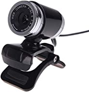 Taoguining Webams HD Computer Camera with Absorption Microphone for Skype Android TV Web Cam black