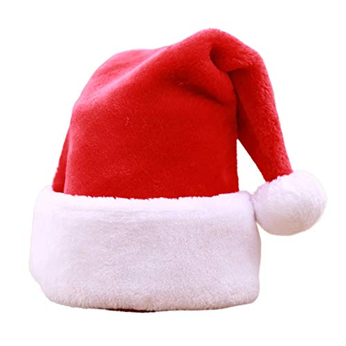 Santa Hat for Adults Classic Christmas Costume Holiday Party Photo Prop Accessory (Christmas Gnome Costume)