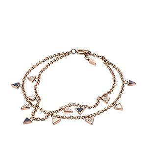 fossil femme acier bracelet en cha ne jf02765791 bijoux. Black Bedroom Furniture Sets. Home Design Ideas