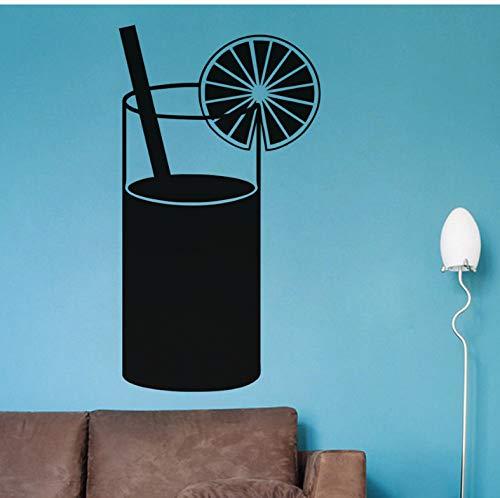 Schwarz gedruckt saftgetränk küche wandaufkleber gourmet aufkleber wohnkultur restaurant dekoration hotel tapete kunst 43x78 cm -