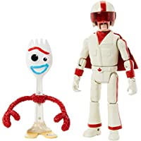 """Disney Pixar Toy Story 4 Storytelling 2-Pack with 3"""" Tall Forky and 5.9"""" Tall Duke Caboom Posable Figures"""