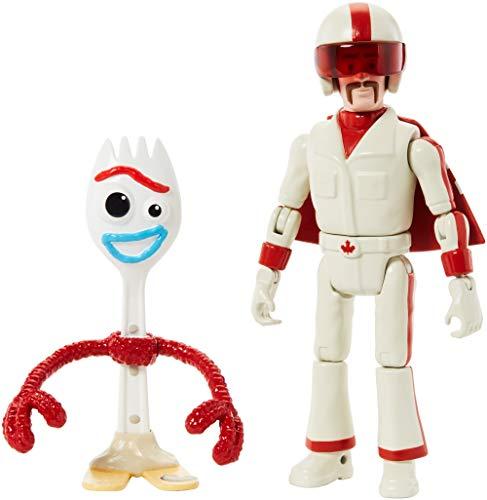 Disney Toy Story 4 Figura Básica Forky con Duke Caboom, Juguetes Niños +3 Años (Mattel GGX29)