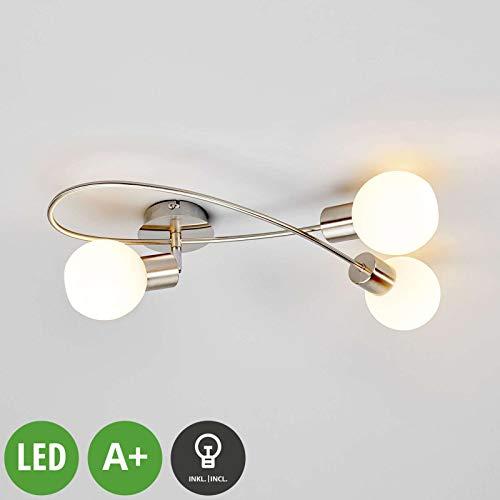 LED Deckenleuchte Deckenlampe Leonor 4-flammig Weiß Lampenwelt Antik Küche GU10