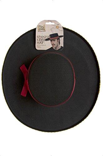scher Hut mit Kordel, One Size, Schwarz, 7761 (Schwarzer Zorro Hut)