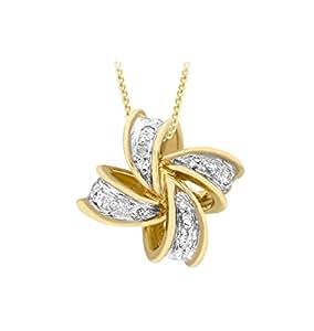 Carissima Gold Collier  - Femme - Or Jaune 375/1000 (9 Cts) 1.69 Gr - Diamant