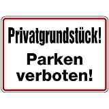 Schild Alu Privatgrundstück! Parken verboten! 250x350mm