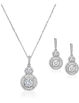 Orphelia Damen-Set: Halskette + Ohrringe 925 Sterling Silber Zirkonia wei SET-5228