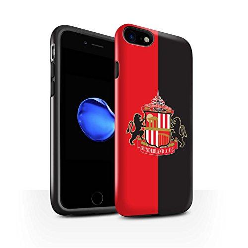 Offiziell Sunderland AFC Hülle / Glanz Harten Stoßfest Case für Apple iPhone 8 / Schwarz Muster / SAFC Fußball Crest Kollektion Rot/Schwarz
