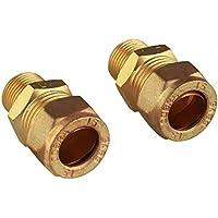 "GROHE 46914000   UK Compression Adaptors   15mm x 3/8"" - ukpricecomparsion.eu"