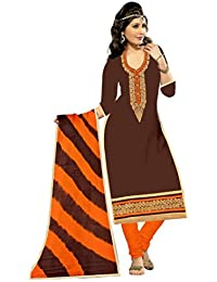 MAHI FASHION Women's Cotton Dress Material (MF02_Free Size_Multi-Coloured)