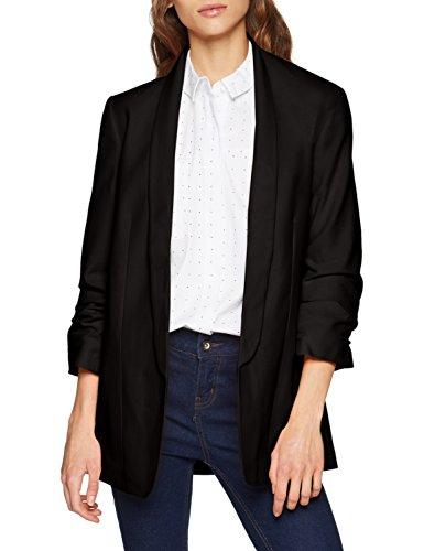 PIECES Damen PCBOSS 3/4 Blazer NOOS Anzugjacke, Schwarz Black, 40 (Herstellergröße: L)