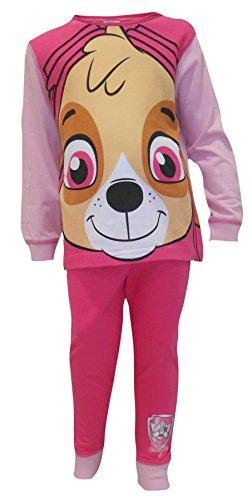 Mädchen Paw Patrol Skye Gesicht kleiner Hund NEUHEIT Schlafanzug Größen von 18 Monate bis 6 Jahre - Rosa, 4-5 Years