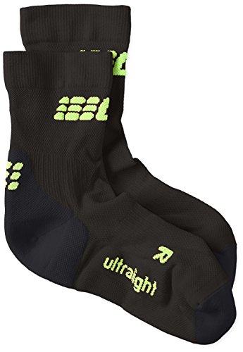 CEP Ultralight Short Socks Men Kompressionsbekleidung, Schwarz, IV (Shorts Power Male)