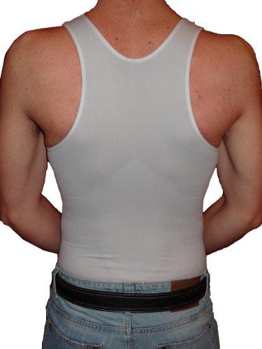 Figurformendes Herrenunterhemd weiße