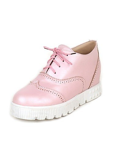 ZQ Scarpe Donna Finta pelle Piatto Punta arrotondata Mocassini Formale Nero/Rosa , pink-us5.5 / eu36 / uk3.5 / cn35 , pink-us5.5 / eu36 / uk3.5 / cn35 black-us5.5 / eu36 / uk3.5 / cn35