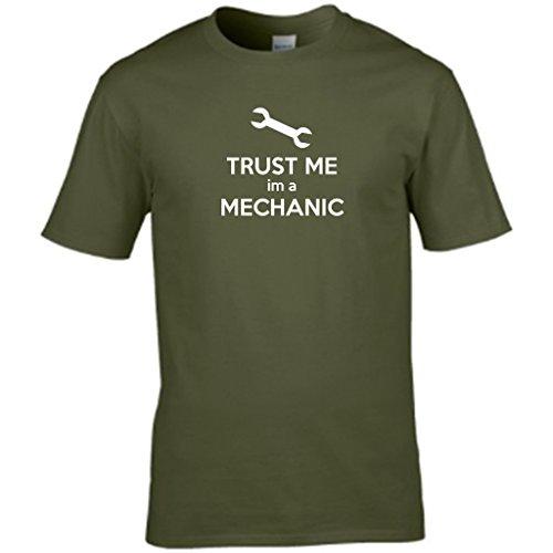 Vertrauen Sie mir, A IM MECHANIC-Design Herren t shirt Grün - Grün