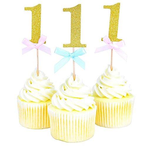 VALINK 20piezas primer cumpleaños Cupcake Toppers