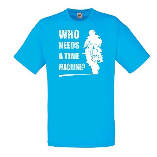 lepni.me T-Shirt da Uomo Abbigliamento Moto (Medium Azzulo Multicolore)