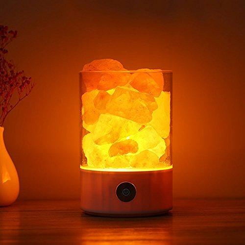 Himalaya Kristall Salz Lampe Lampe Glas Lampe Natürliche Anion Salz Lampe Einfache Gesundheit Luft Bad Geschenk Lampe (Himalaya Bad Salz Kristalle)