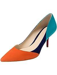 Zapatos naranjas formales Calaier para mujer cZtsNiXF