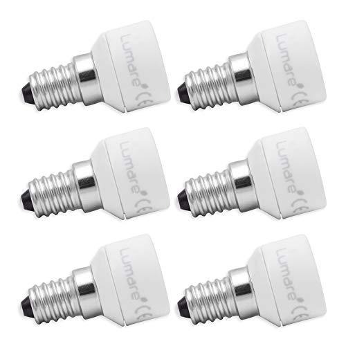 Lumare Lampensockel Adapter von E14 auf GU10 Leuchtmittel Fassung Ultra Slim Keramik 6er Set
