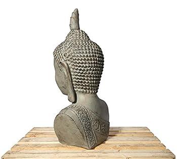Xxl Buddha Kopf 113cm Skulptur Steinoptik Frostfest Indoor-outdoor Buddha 406150 2