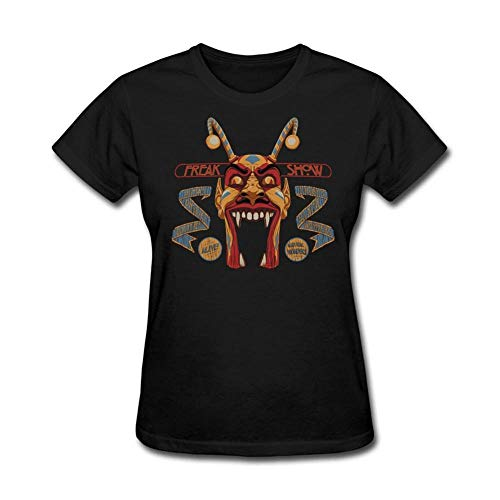 Einfach Kostüm Weird - T-Shirt Damen Weird Freak Show T-Shirts Shop Frauen Natürliche T-Shirt Kurze Kostüme @Black_M
