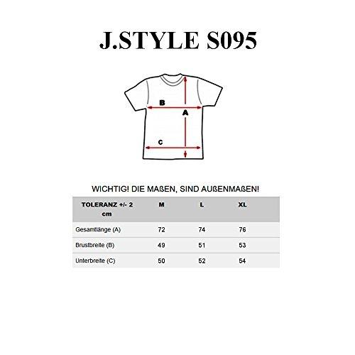 BOLF Herren T-Shirt Tee Kurzarm Rundhals Slim Sommer Aufdruck Print 3C3 Motiv Schwarz