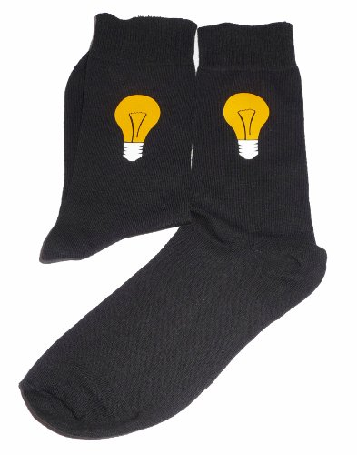 Price comparison product image Light Bulb Socks - Something for the Electrician,  Great Novelty Gift Socks