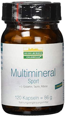 Heidelberger Chlorella - Multimineral Sport Kapseln, 11 Mineralstoffe, mit Taurin, L-Glutamin und Ribose, gute Bioverfügbarkeit, vegetarisch, hergestellt in Deutschland, 86 g, 120 Kapseln -