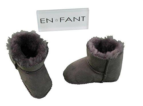 EN-FANT boots fourrées bébé mixte, coloris beige clair, taille M, 811840U-33 gris