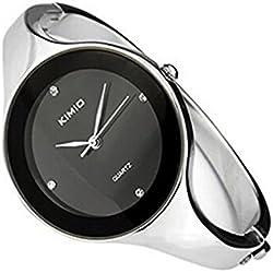 PSFY KIMIO Elegent fashion round face lady's women's bracelet bangle wrist quartz watch Gift