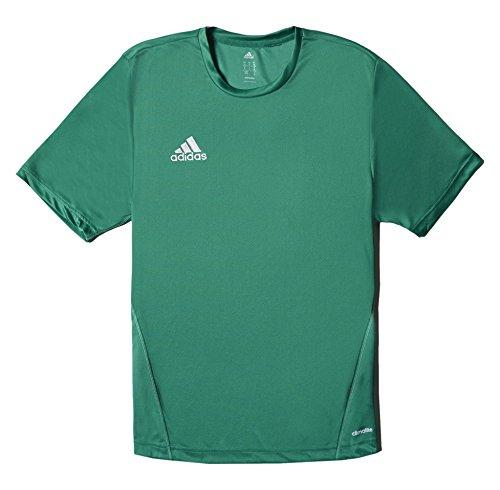 Adidas Core 15 - Maglietta Sportiva Da Uomo Verde/Bianco, Taglia