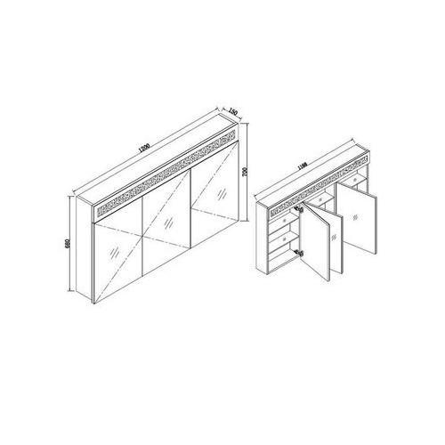 Badschrank mit Spiegel – 120 cm - 3