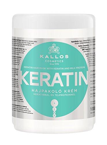 Kallos KJMN Creme mit Keratin & Milchproteine für trockenes, brüchiges und chemisch behandeltes Haar, 1.07 kg