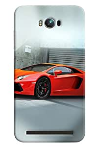 Clarks Lamborgini Hard Plastic Printed Back Cover/Case For Asus Zenfone Max